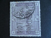 Great Britain very nice Sc 96 with Sutton Reading perfin, check it out!