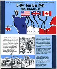 Jersey June 6th 1994 50th Anniversary of D Day Commemorative Stamp Booklet