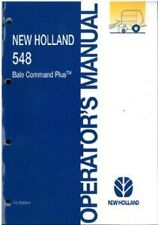 NEW HOLLAND ROUND BALER 548 BALE COMMAND PLUS OPERATORS MANUAL