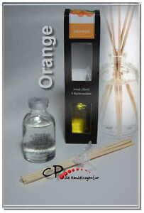 Pajoma Raumduft Diffuser  Orange 30 ml  mit 5 Rattanstäbe NEU OVP