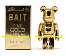Medicom Be@rbrick 2017 100% Dorato Bait Gold Bar 999 BEARBRICK 1pc