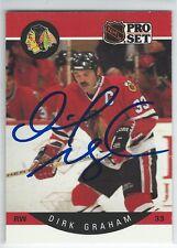 Dirk Graham Signed 1990/91 Pro Set Card #51