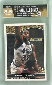 Shaquille O'Neal 1993-94 Topps Black Gold #18 HGA 8.5