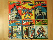 Superman Batman Nr.2, 3 13, 14 von 1973, Nr.6, 18 von 1974 - Konvolut Comichefte