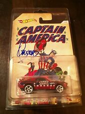 Hot Wheels Captain America Signed Jim Steranko Cover art for Captain America 111