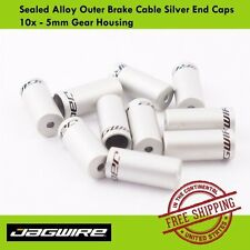 Jagwire Sealed Alloy Outer Brake Cable Silver End Caps 10x - 5mm Gear Housing