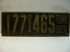 1928 Tennessee License Plate   177 465  REAR    long & narrow    Vintage as5161