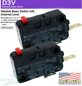 Microwave Door Switch WB24X829 WB24X10029 WB24X10047 WB24X10071 (Pack of 2)