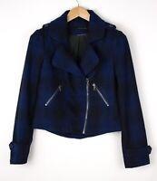 Calvin Klein Femme Laine Décontracté Veste Manteau Caban Taille M ARZ1381