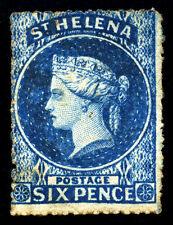 St. Helena. 1863. 6d. Blue. SC# 2B. SG 2a. Wmk 6. Rough Perf. MNG. SCV $525