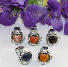 5pcs mixed colors heart Pocket Finger Ring Watch #22406