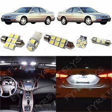 8x White LED lights interior package kit for 1993-1997 Honda Accord HA4W