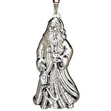 2010 Reed Barton 9th Annual Sterling World Santa Sinterklass Xmas Ornment Pendan