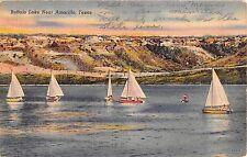 1946 Sailboats on Buffalo Lake near Amarillo TX post card