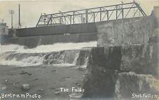 Sheboygan Falls WI Metal Wagon Bridge Over The Falls~Bertram RPPC 1907-1910
