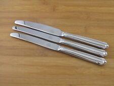 """3 Three Mikasa Classico Satin Dinner Knives 9 1/4"""" EXC Stainless 18/8 Korea"""
