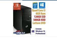 PC COMPUTER DESKTOP RICONDIZIONATO i5 8GB SSD120GB HDD500 WINDOWS 10 OFFICE 2019