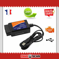 ♚ Interface ELM327 USB OBDII compatible avec: Multiecuscan AlfaOBD DDT4ALL