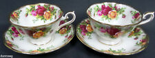 2 OLD COUNTRY ROSES AVON TEA CUPS & SAUCERS, 1st QUALITY, VGC, ROYAL ALBERT