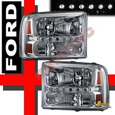 99-04 Ford F250 F350 SuperDuty Pickup 00-04 Excursion LED Facelift Headlights