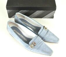 Fratelli Rossetti Suede Point Toe Loafers 7.5 Light Blue Slip On Flats Career