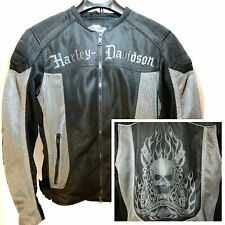 Harley Davidson Riding Gear Mesh Motorcycle Jacket w/ Skull Design, Mens Small