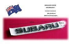 SUBARU Badge Emblem 16 x 2.5 cm Chrome Emblem Badge (New) WRX STI outback etc