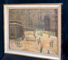 20th Century 5th Avenue Library Blizzard Winter New York Guy WIGGINS (1883-1962)