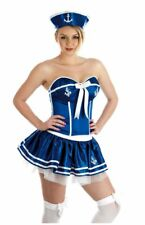 LADIES SEXY SAILOR CHEEKY GIRL SASSY NAVY SHIP FANCY DRESS COSTUME