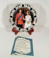 """A Royal Union "" William & Kate 8"" Plate The Bradford Exchange 2011"