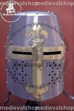 SALE New MEDIEVAL TEMPLAR CRUSADER KNIGHT ARMOR GREAT HELMET REENACTMENT HELM