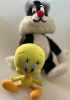 "1971 Lot Vtg Looney Tunes Tweety Bird Sylvester Plush Stuffed Animals 14"""