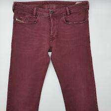 Diesel Iakop Wash 0111D_Stretch W33 L32 rot Herren Men Designer Denim Jeans Hose