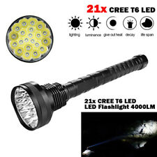 4000LM  XM-L LED 21x T6 Super Flashlight Torch Lamp Light 5Mode 26650 18650