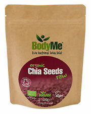 BodyMe Organic Chia Seeds Raw | 100g Pouch | Soil Association Certified