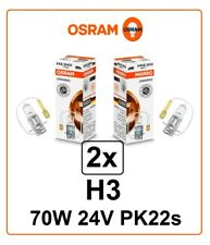 2x H3 70W 24V halogen 64156 OSRAM car lamp auto Truck Bus Lorry PK22s Germany