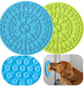 Pet Lick Mat Slow Feeder Dog & Cat Bowl Lick Pad Super Suction Treat Dispensing