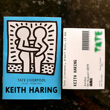 Keith Haring Liverpool Tate A6 Booklet + Used Ticket