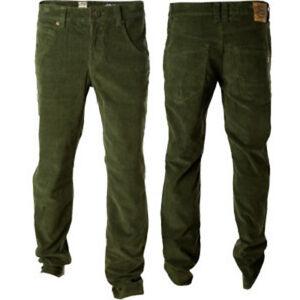 Volcom Boy's Nova Corduroy Pants, Thyme Green