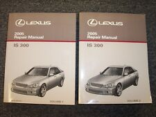 2005 Lexus IS300 Sedan Workshop Shop Service Repair Manual Set SportCross 3.0L
