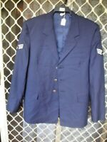A19 AIR FORCE COAT SIZE 40R WITH BUTTONS AND STRIPES