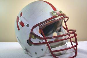 1991-2 Game Used Worn Nebraska Cornhuskers Mike Anderson Football Helmet #48