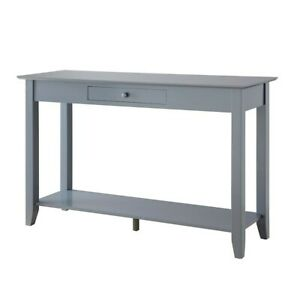 Convenience Concepts American Heritage Console Table w/Drawer, Gray - 7104099GY