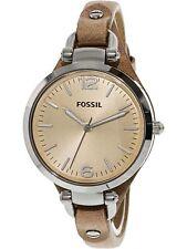 Fossil Women's Georgia ES2830 Beige Leather Analog Quartz Fashion Watch