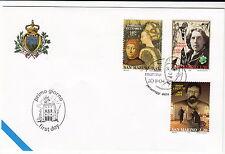 FIRST DAY COVER SCRITTORI WILDE CECHOV PETRARCA ANNULLO SPECIALE SAN MARINO 2004
