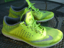mens Nike neon yellow mesh sneaker athletic lowtop shoes Usa size 11 M lite used