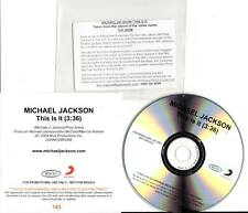 Michael Jackson 1trk PROMO CD This Is It