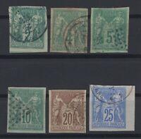 G139412/ FRENCH COLONIES – MAURY # CG25 / CG28 - CG30 - CG31 USED – CV 125 $