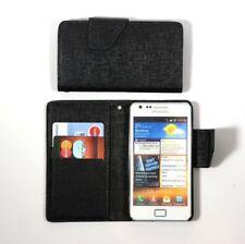 Étuis, housses et coques noirs en cuir pour téléphone mobile et assistant personnel (PDA) Samsung