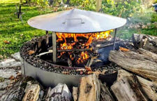 Higley Welding Fire Pit Ring Heat Deflector Cover With Double Ring Stand
